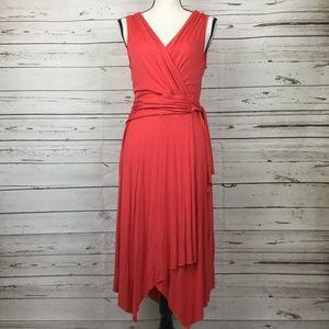 NWT Spense Coral Wrap Dress, Size L